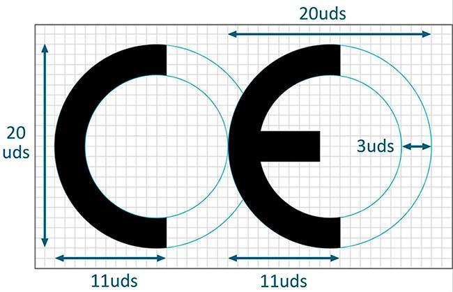 Medidas logo Marcado CE