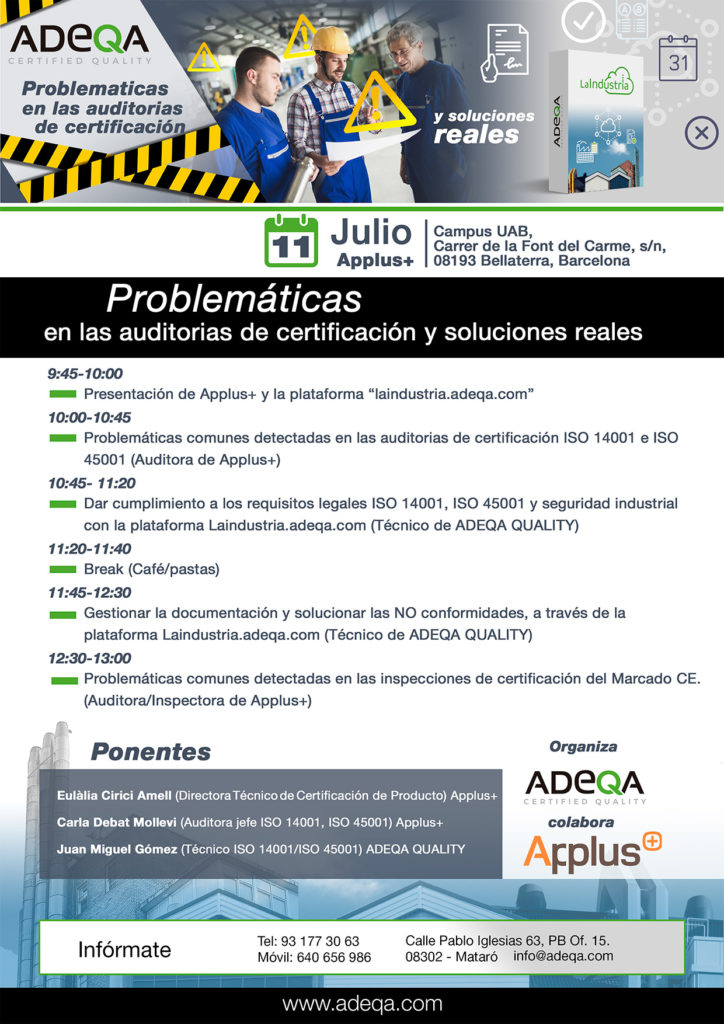 Problemáticas certificación